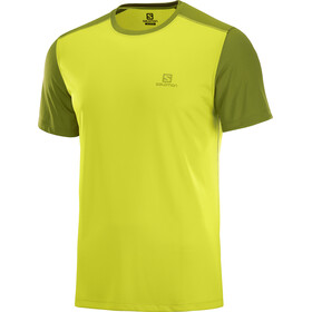 Salomon Stroll Shortsleeve Shirt Men yellow/olive